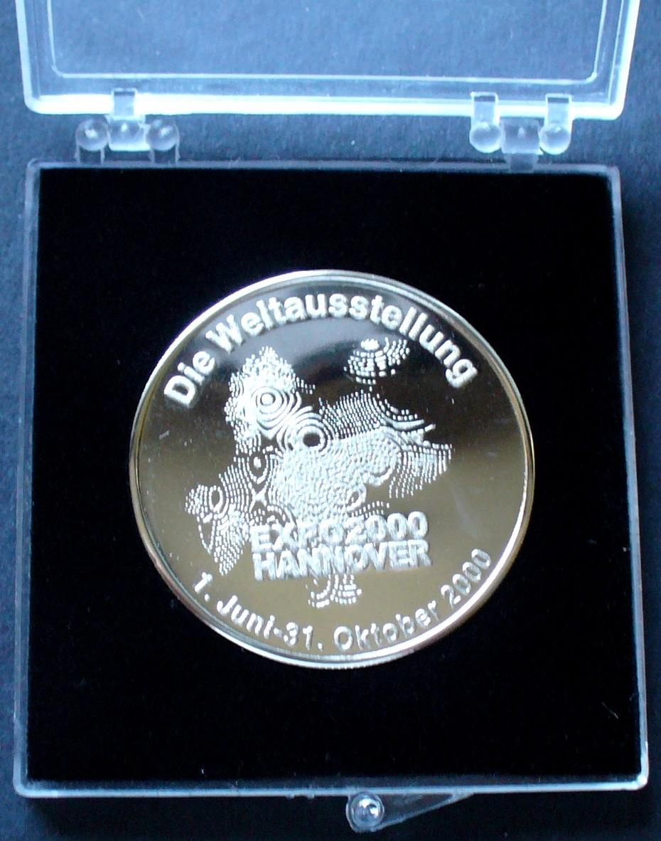 Medaille 2000 Niedersachsen Hannover Weltausstellung Expo 2000 In