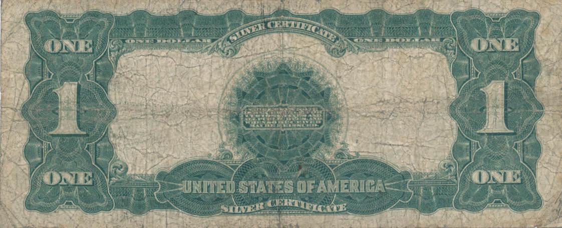 1 Dollar 1899 USA Silver Certificate, stark gebraucht IV-, | MA-Shops