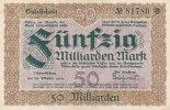 Sachsen 50 Mrd..Mark 29.Oktober Crimmitschau, Stadt