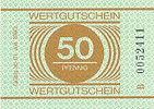 Deutschland, DDR 50 Pfennig Gefängnisgeld Serie B Rückseite leer