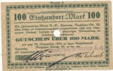 Deutsches Reich, Sachsen 100 Mark 20.September Chemnitz, Zimmermann-Werke A.G.,