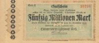 Deutsches Reich, Sachsen, 50 Mio.Mark Dresden, Ernemann-Werke,