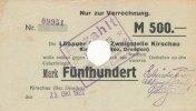 Deutsches Reich, Sachsen, 500 Mark Kirschau, Gebrüder Friese auf Löbauer Bank,