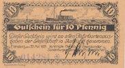 Deutsches Reich, Schleswig Holstein, 10 Pfennig Flensburg,