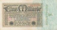 Deutsches Reich, 1 Mrd.Mark Ro.111b Firmendruck KN und FZ rot, FZ:X
