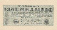 Deutsches Reich, 1 Mrd.Mark Ro.119b Wz.Kreuzblüten, ohne FZ