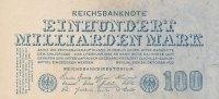 Deutsches Reich, 100 Mrd.Mark Ro.123