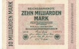 Deutsches Reich, Weimarer Republik, 10 Mrd.Mark Inflation, Ro.114a Wz.Hakensterne KN 6 stellig, FZ:CD,