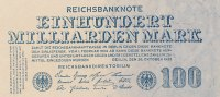 Deutsches Reich, Weimarer Republik 100 Mrd.Mark Inflation, Ro.123