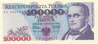 Polen 100000 Zlotych 2 Buchstaben vor KN,