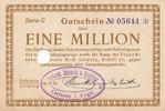 Deutsches Reich, Sachsen, 1 Million Mark, Oelsnitz i.V.,Stadt, Schenk,Schmidt & Beutler,