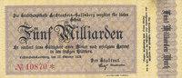 Deutsches Reich, Sachsen, 5 Milliarden Mark Lichtenstein-Callnberg, Stadt,