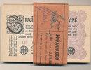 Deutsches Reich,Weimarer Republik, 2 Millionen Mark, Lot 100 Stück Reichsbanknoten, Ro.103a Wz.Hakensterne FZ:LE,