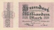 Deutsches Reich,Provinz Sachsen, 100 Milliarden Mark Magdeburg, Stadt,