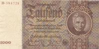 Deutsches Reich,Drittes Reich, 1000 Reichsmark Udr.Bst.E Serie B,