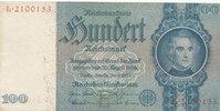 Deutsches Reich,Drittes Reich, 100 Reichsmark Ro.176a, Friedensdruck, Wz.Kopf,Udr.Bst.E, Serie:L,