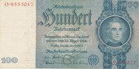 Deutsches Reich,Drittes Reich, 100 Reichsmark Ro.176a, Friedensdruck, Wz.Kopf,Udr.Bst.G, Serie:O,
