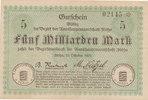 Deutschland,Sachsen, 5 Milliarden Mark Flöha Amtshauptmannschaft,