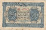 Deutschland,DDR, 50 Pfennig Ro.339c KN 6 stellig, 2 Buchstaben davor,Ersatznote,