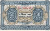Deutschland,DDR, 50 Pfennig Ro.339e KN 7 stellig, 2 Buchstaben davor,
