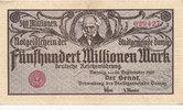 Freie Stadt Danzig, 500 Millionen Mark, Ro.807b Randdruck gelb,