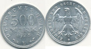 Deutsches Reich,Weimarer Republik, 500 Mark J.305