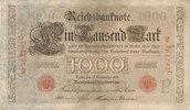 Deutsches Reich,Kaiserreich, 1000 Mark Ro.39 Udr.Bst.P, Serie C,