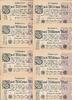 Deutsches Reich 2 Mio.Mark 9.August Lot 100 Stück Ro.103a Wz.Hakensterne FZ.LE