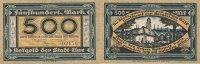 Sachsen 500 Mark 1.November Aue Stadt