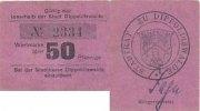 Deutsches Reich, Sachsen 50 Pfennige Dippoldiswalde, Stadtkasse