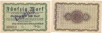 Deutsches Reich, Sachsen 50 Mark 26.Oktober Chemnitz, Pöge Elektricitäts A.G., Rs.durch Stempel verlängert,
