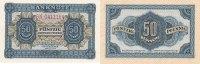 Deutschland, DDR, 50 Pfennig Ro.339e KN 7 stellig, 2 Buchstaben davor,