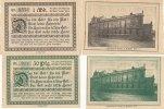Deutsches Reich, Rheinland, 50 Pfennig, 1 Mark Trier Stadttheater,