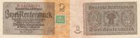 Deutschland, Sowjetische Besatzungszone, 2 Rentenmark 1937 mit Kupon, Ro.331b Reichsdruck KN 8stellig,