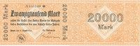 Deutsches Reich,Westfalen, 20000 Mark Wanne,Amtmann,