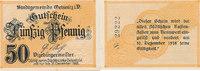 Deutsches Reich, Sachsen, 50 Pfennig Oelsnitz i.V.,Stadt,