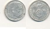 Deutsches Reich,Drittes Reich, 2 Reichsmark J.366 Paul von Hindenburg, (Silber 0,625, Gewicht 8g)