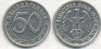 Deutsches Reich,Drittes Reich, 50 Reichspfennig J.365 Nickel