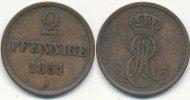 Altdeutschland 2 Pfennige Hannover