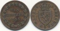 Altdeutschland 1 Kreuzer Nassau
