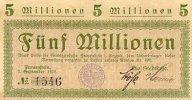 Sachsen 5 Mio.Mark 7.September Frauenstein
