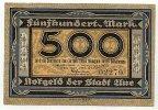 Sachsen 500 Mark 1.November Aue