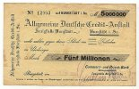 Sachsen 5 Mio.Mark 1.September Burgstädt