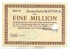 Sachsen 1 Mio.Mark 18.8. Oelsnitz i.V. und Leipzig