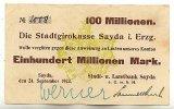 Deutschland 100 Mio. Mark 24.September Sachsen, Sayda