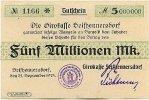 Sachsen 5 Mio.Mark 25.September Seifhennersdorf