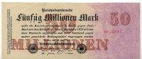 Deutsches Reich 50 Mio.Mark 25.Juli Ro.97b, FZ C