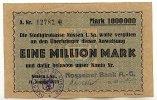 Deutsches Reich 1 Mio.Mark 11.August Sachsen, Nossen