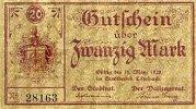 Sachsen 20 Mark 31.März Limbach