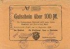 Sachsen 100 Mark 26.September Schöneck